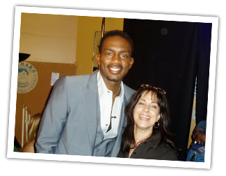 Robin With Bill Bellamy, host of NBC's Last Comic Standing.
